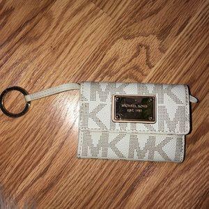 Michael Kors MK Logo Keychain Mini Wallet